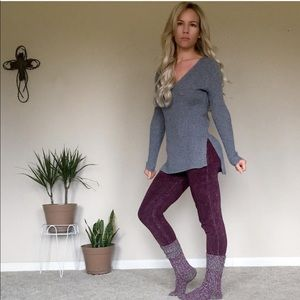 Tops - New grey gray light weight longsleeve sweater
